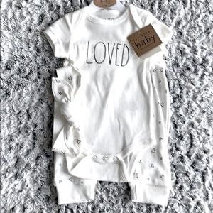 Rae Dunn Loved Baby Outfit